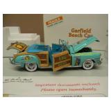 DANBURY MINT GARFIELD DIE CAST BEACH CAR - 1948 CHRYSLER - NEW IN BOX!!!!! - THIS IS A  AWESOME PIECE!!!!! - NEVER OUT OF THE BOX! - SEE PICTURES!