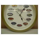 50TH ANNIVERSARY CORVETTE CLOCK - WORKS! - NICE! - SEE PICTURES!