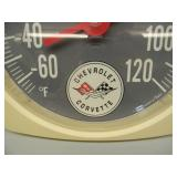 CORVETTE THERMOMETER - WORKS! - NICE! - SEE PICTURES!