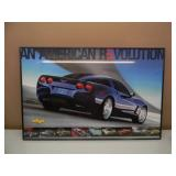 """3 PROFESSIONALLY FRAMED CHEVROLET CORVETTE POSTERS - NICE! - APPROX 35"""" BY 25"""" - SEE PICTURES!"""