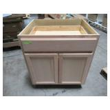 Hampton Bay Assembled 30x34.5x24 in. Base Kitchen Cabinet in Unfinished Beech KB30-UFDF