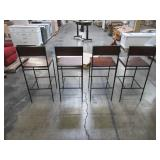 4 Stools - Progressive Furniture Sawyer 36 in. Java Pine Counter Stools A103-43