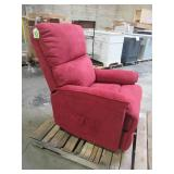 Merax Red Power Lift Chair with Massage Soft Fabric Upholstery Recliner Chair PP192721AAJ