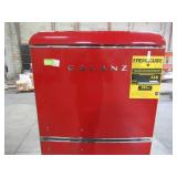 Galanz 10.0 cu. ft. Retro Top Freezer Refrigerator with Dual Door True Freezer, Frost Free in Red GLR10TRDEFR