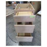 Hampton Bay Assembled 18x34.5x24 in. Base Kitchen Cabinet with 3 Drawers in Unfinished Beech KDB18-UFDF