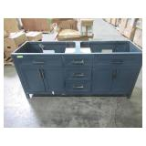 Timeless Home Erin 72 in. W x 22 in. D x 34 in. H Double Bathroom Vanity in Blue TH37672Blue