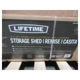 Lifetime 10 ft. x 8 ft. High-Density Polyethylene (HDPE) Shed, 60001 - Small Corner Dent on One of the Roof Pieces.