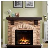 45 in. Freestanding Electric Fireplace in Tan, FFP20101.
