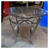 Modern Metal & Glass Side Table