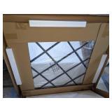 "Home Square 40"" Round Beveled Window Mirror"