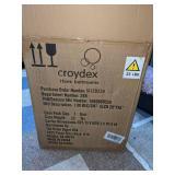 Croydex 16 x 20 Frameless Aluminum Bathroom Vanity