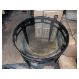 Contemporary Black Metal Round Coffee & Side Tables