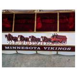 Vintage Budweiser MN Vikings Stained Glass Pool Table Light