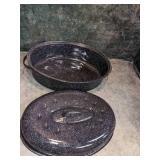 Large Enamel Roasting Pan & Deep Broiler Pan
