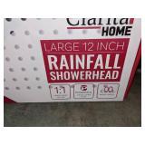 """2 Clarita 12"""" Rainfall Shower Heads"""