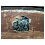 Rare Mintz Art Store Chicago Ornate Oval Beveled Mirror