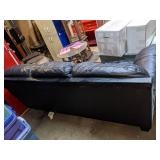 Ashley Furniture Black Leather Couch