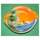 Noritake Circular Platter Oval Bowl with Handles - Rural Scene