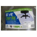 "36"" x 46"" Clear Home Office Chair Mat"