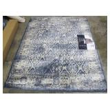 Gertmenian Tempo Area Rug 5 Ft. 3 in x 7 Ft. Lytton Blue Designer Inspired