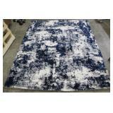 Gertmenian Thomasville 7ft 10in x 10ft Garda Blue Grey Luxury Bali Shag Rug
