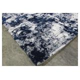 Gertmenian Thomasville 7ft 10in x 10ft Garda Blue Grey Luxury Bali Shag Rug