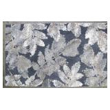 Mohawk Home Sculpted Allure 30in x 45in Grey Floral Area Rug