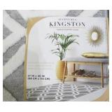 Carmel Kingston Town and Country Living 27in x 45in Grey White Accent Rug