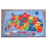 Smithsonian 72 in X 48 in Education Rug United States of America Pattern