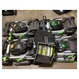 Lot of 4 Ego power mowers used only  1 battery and 1 charger Customer Returns See Pictures