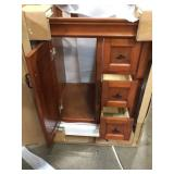 Naples 24 in. W x 21.63 in. D Bath Vanity Cabinet Only in Warm Cinnamon by Home Decorators Collection Customer Returns See picstures