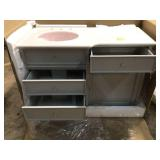 Hampton Harbor 48 in. Vanity in Dove Grey with Natural Marble Vanity Top in White with White Sink by Home Decorators Collection Customer Returns See Pictures