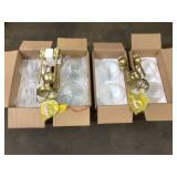 Lot ofo 2 Axel 24.75 in. 4-Light Olympic Gold Semi-Flush Mount by Golden Lighting Customer Returns See Pictures