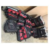 Lot of assortdd hucky tool bags and toolboxes Customer Returns See Pictures