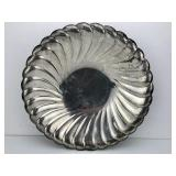 """Antique/Vintage - SilverPlated - Waverly 10.5"""" Round Scalloped Bowl WM Rogers 3835 Star Eagle"""
