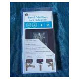 4 in. x 4 in. Post Adapter in Black with 3 Mailbox Mounting Options by Architectural Mailboxes (352)