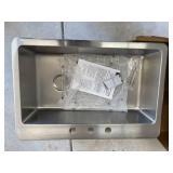 Avenue Drop-in/Undermount Stainless Steel 33 in. Single Bowl Kitchen Sink with Bottom Grid by Elkay