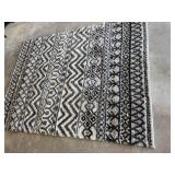 Area Rug in White and Black
