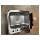 Drop-In Stainless Steel 25 in. 4-Hole Single Bowl Kitchen Sink by Glacier Bay