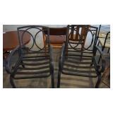 2 Black Metal Outdoor Chairs