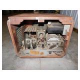 Vintage Box TV with Porthole Screen