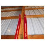 Vintage Red Trail Blazer Skis Coat Hanger