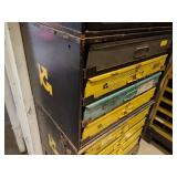 Cabinet & Base with (4) Parts Drawe...
