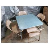 Card Table and 4 Folding Chairs