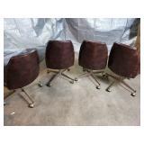 4 Vintage Brown Vinyl Chairs