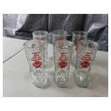 Set of 6 Schmidt Boot Drinking Glasses