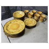 Matching Set of Plates, Bowls and Cups