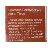 New & Unused Heartland Candle Pillars