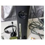 Black XBox 360 and Controllers