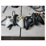 White XBox 360 and Controllers